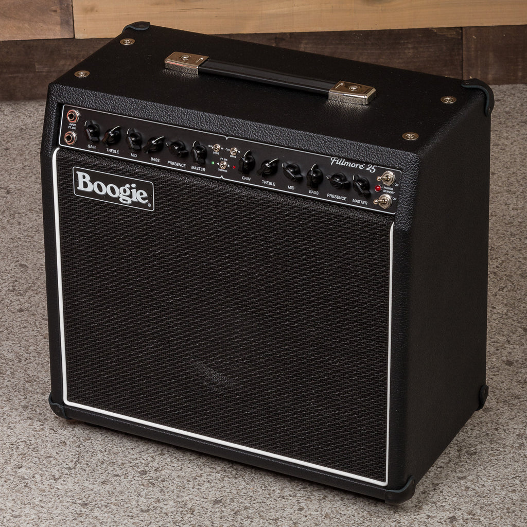 MESA/Boogie Fillmore 25 1x12 Combo - Custom Black Bronco-Black Jute-White Piping
