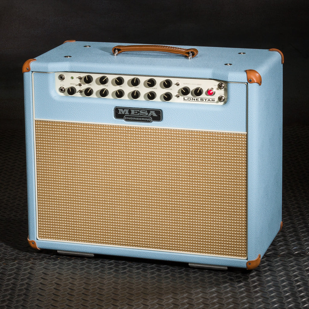 Mesa/Boogie Lone Star 1x12 Combo - Custom Baby Blue Bronco - Cream/Tan Grille
