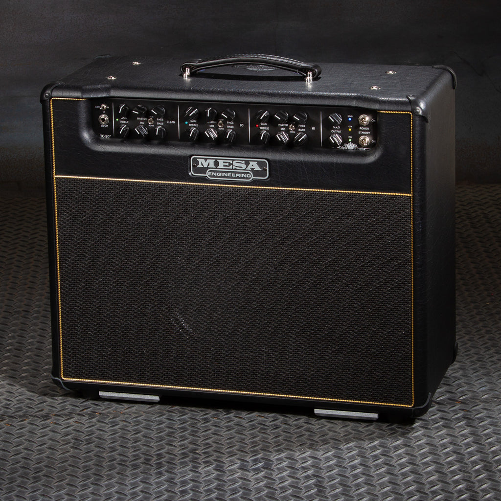 MESA/Boogie Triple Crown TC-50 1x12 Combo - Custom Black Taurus / Gold Tinsel Piping - Creamback 75