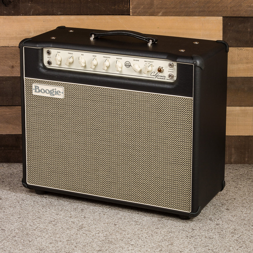 MESA/Boogie California Tweed 6V6 4:40 1x12 Combo - Custom Black Taurus / Cream & Black Jute Grille