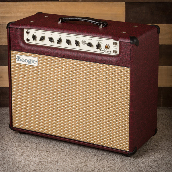 MESA/Boogie California Tweed 6V6 4:40 1x12 Combo - Custom Vintage Bordeaux Bronco / Cream & Tan Jute Grille