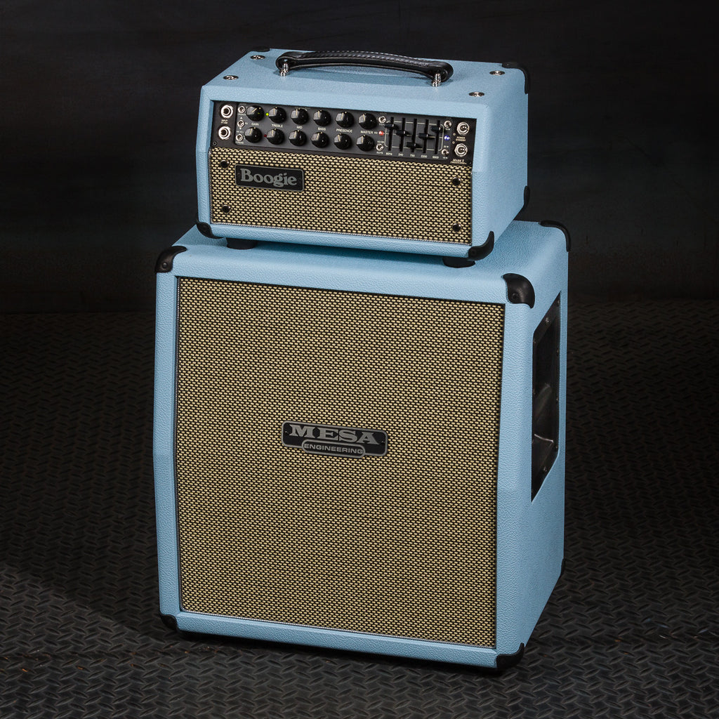 MESA/Boogie Mark Five: 25 Head & Mini Rectifier 1x12 Slant Cab - Custom Baby Blue  Bronco / Cream & Black Jute Grille