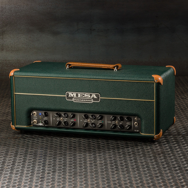 MESA/Boogie Triple Crown TC-50 Head - Custom Emerald Bronco with Emerald  Bronco Front Panel