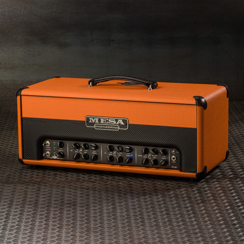 MESA/Boogie Triple Crown TC-50 Head - Custom Orange Bronco with Orange Bronco /Black Carbon Front Panel