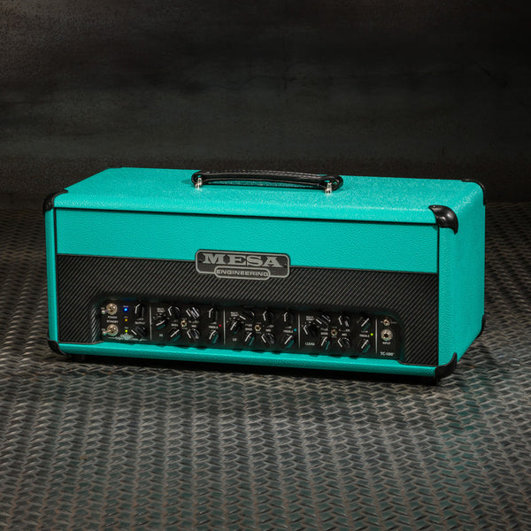 MESA/Boogie Triple Crown TC-100 Head - Custom Teal Bronco with Split Black Carbon Front Panel