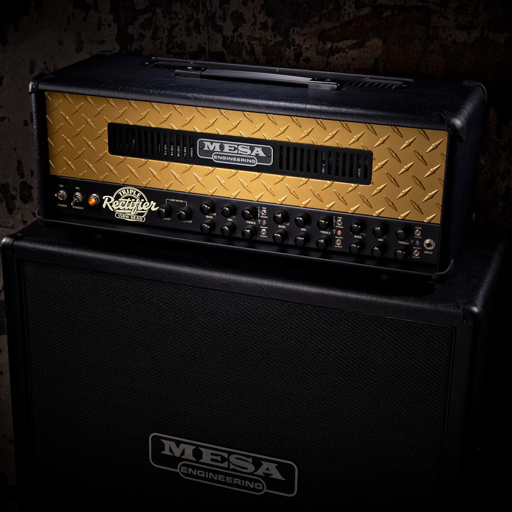 MESA/Boogie Triple Rectifier Multi-Watt Head - Custom Gold Diamond Plate