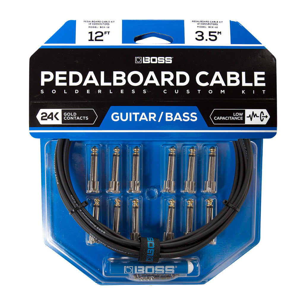 Boss - BCK-12 Pedalboard Cable Solderless Custom Kit