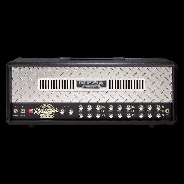MESA/Boogie Dual Rectifier Multi-Watt Head - Black w/Polished Aluminum Diamond Plate