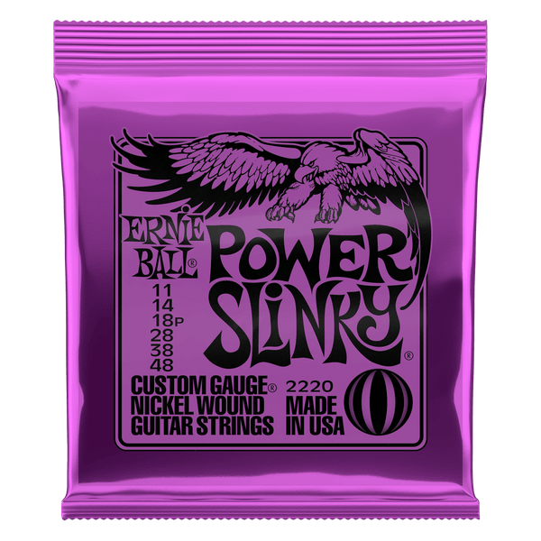 Ernie Ball Power Slinky Nickel Wound Electric Guitar Strings, 11-48