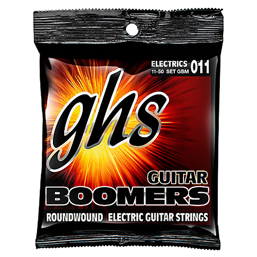 GHS Boomers 6-String Medium Electric Guitar Strings, 11-50