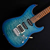 Tom Anderson Drop Top - Bora to Trans Blue Burst with Binding