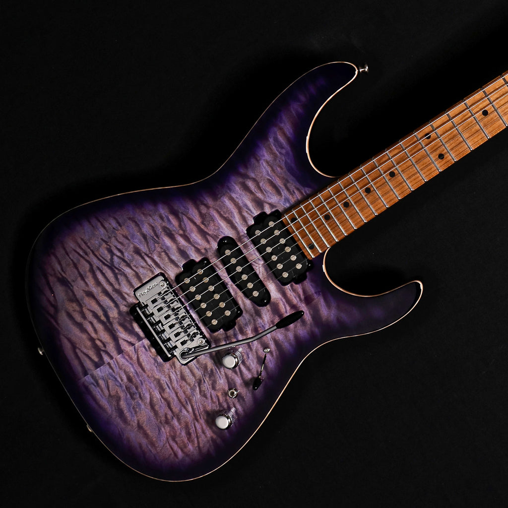 Tom Anderson Angel - Abalone to T-Purple Burst with Binding