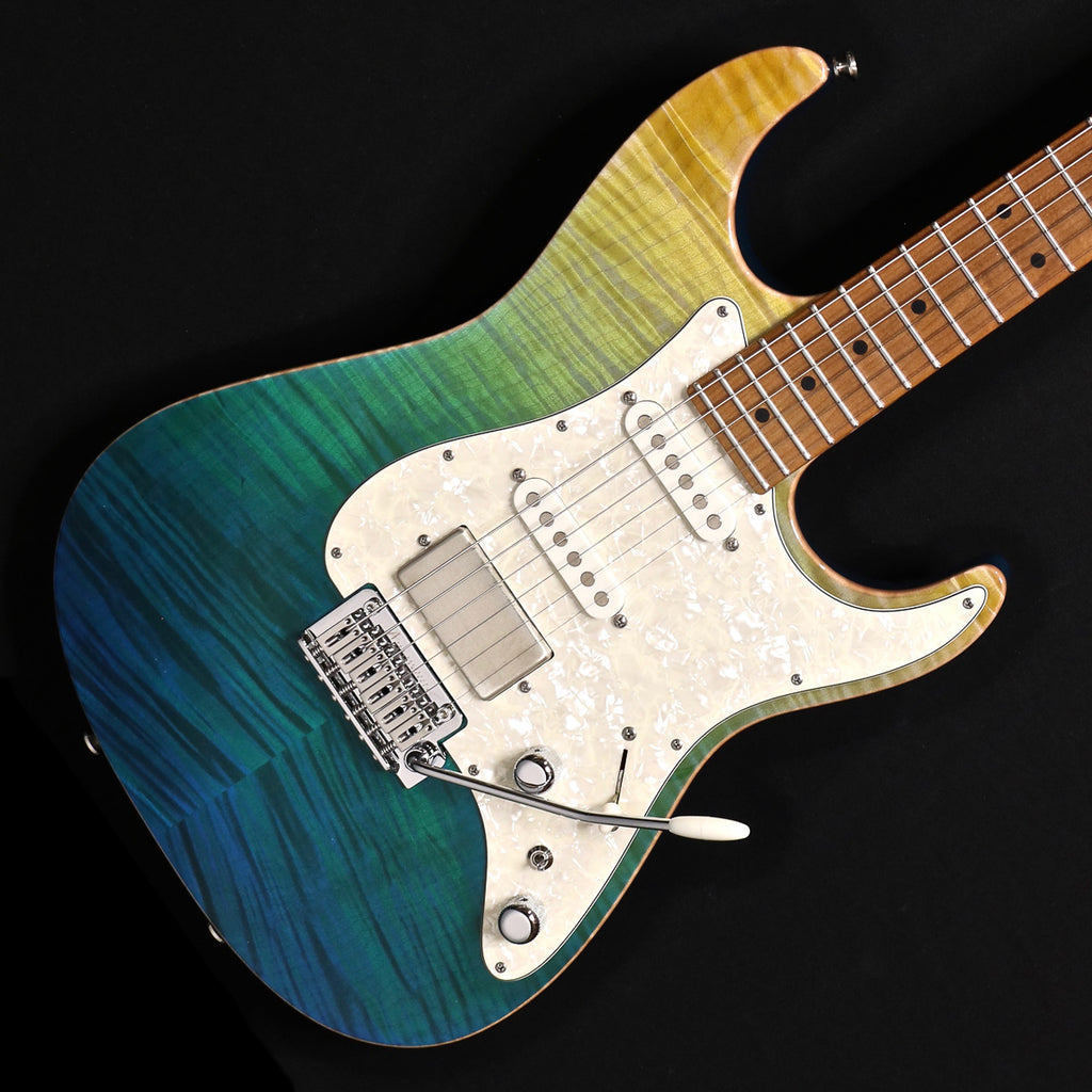 Tom Anderson Drop Top Classic - Maui Kazowie Green with Binding