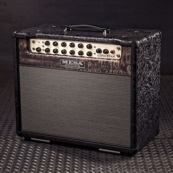 Mesa/Boogie Lone Star 1x12 Combo - Custom Black Floral Embossed Leather / Quilt Maple Front Panel