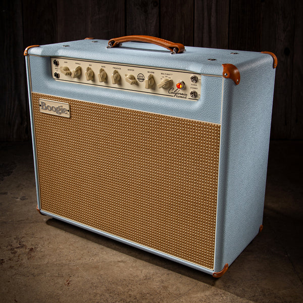 MESA/Boogie California Tweed 6V6 4:40 1x12 Combo - Custom Baby Blue Bronco / Cream & Tan Jute Grille