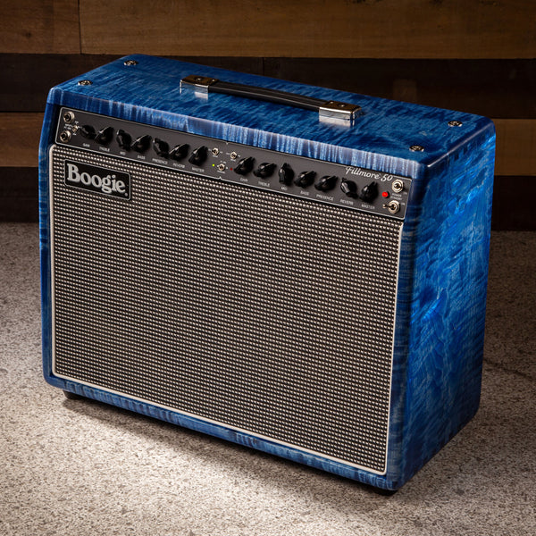 MESA/Boogie Fillmore 50 1x12 Combo- Custom Private Res. Flame Maple - Trans Turquoise