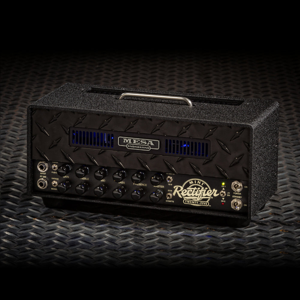 MESA/Boogie Mini Rectifier 25 Head - Custom Black Diamond Plate