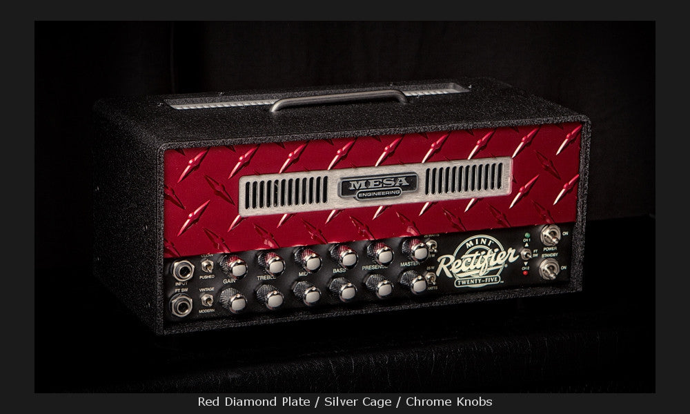 MESA/Boogie Mini Rectifier 25 Head - Custom Red Diamond Plate