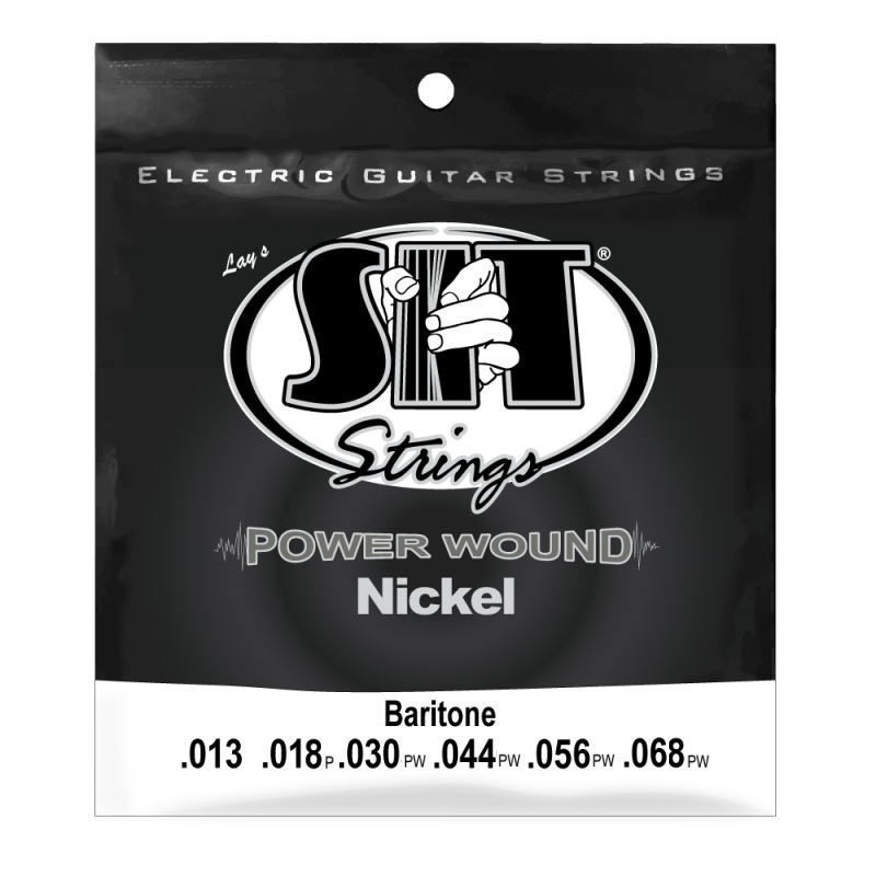 SIT Baritone Power Wound Nickel Electric Guitar Strings, 13-68 28