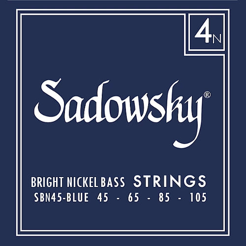 Sadowsky SBN45-BLUE Bright Nickel Bass Strings 45-105