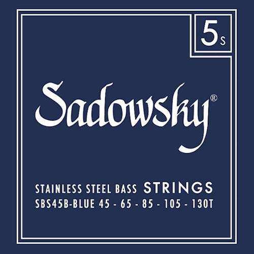 Sadowsky SBS45B-BLUE Stainless Steel Bass Strings 45-130