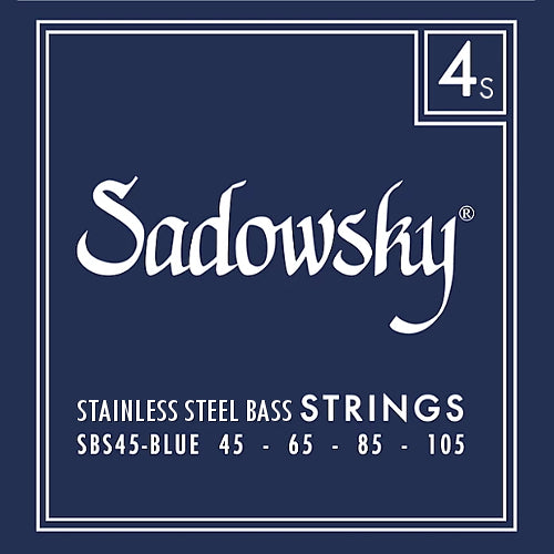 Sadowsky SBS45-BLUE Stainless Steel Bass Strings 45-105
