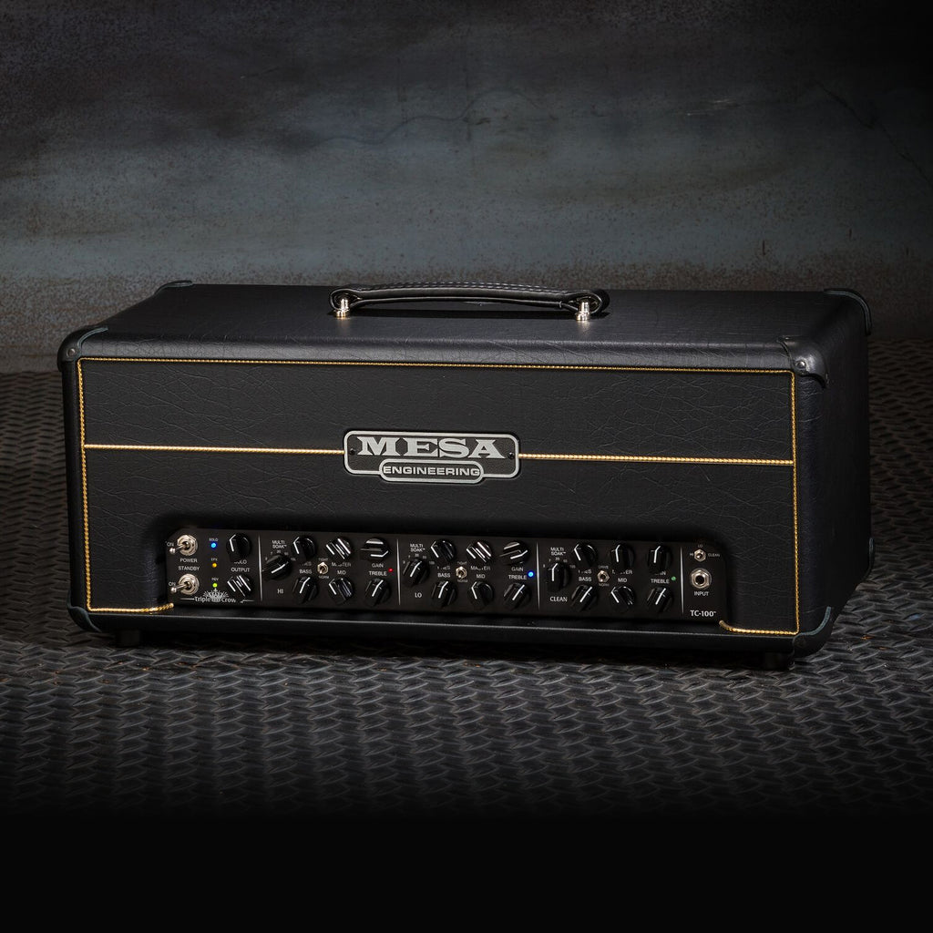MESA/Boogie Triple Crown TC-100 Head - Custom Black Taurus - Gold Piping