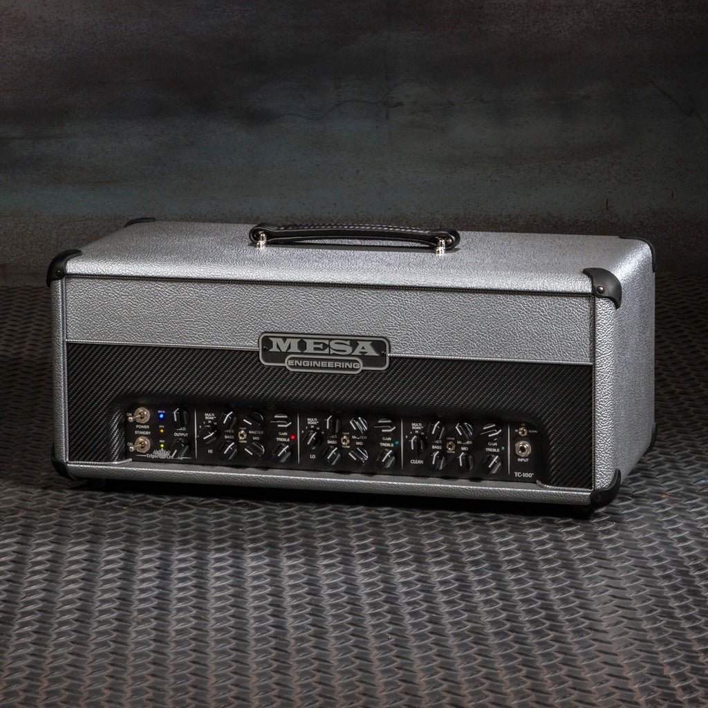 MESA/Boogie Triple Crown TC-100 Head - Custom Silver Bronco with Split Black Carbon Front Panel