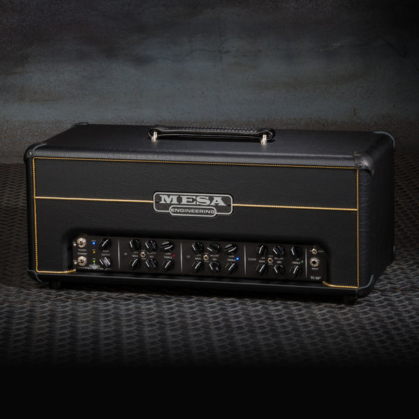 MESA/Boogie Triple Crown TC-50 Head - Custom Black Taurus - Gold Piping