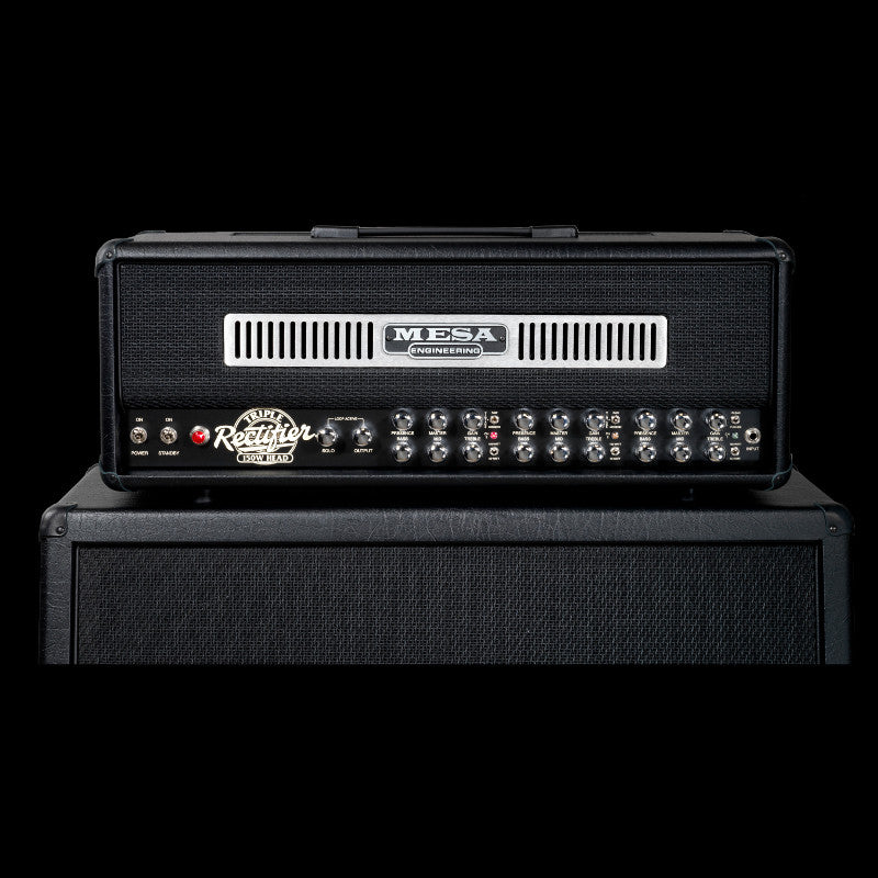 MESA/Boogie Triple Rectifier Multi-Watt Head - Black w/Black Jute Grille