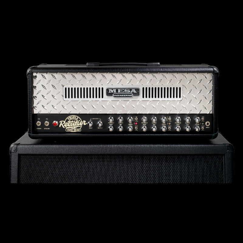 MESA/Boogie Triple Rectifier Multi-Watt Head - Black w/Polished Aluminum Diamond Plate