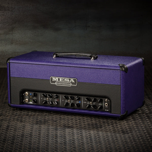 MESA/Boogie Triple Crown TC-50 Head - Custom Purple Bronco with Purple Bronco/Black Carbon Front Panel
