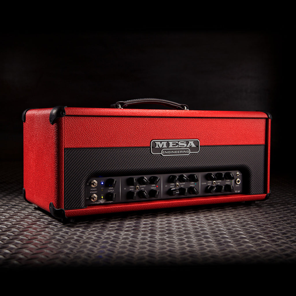 MESA/Boogie Triple Crown TC-50 Head - Custom Red Bronco with Red Bronco /Black Carbon Front Panel