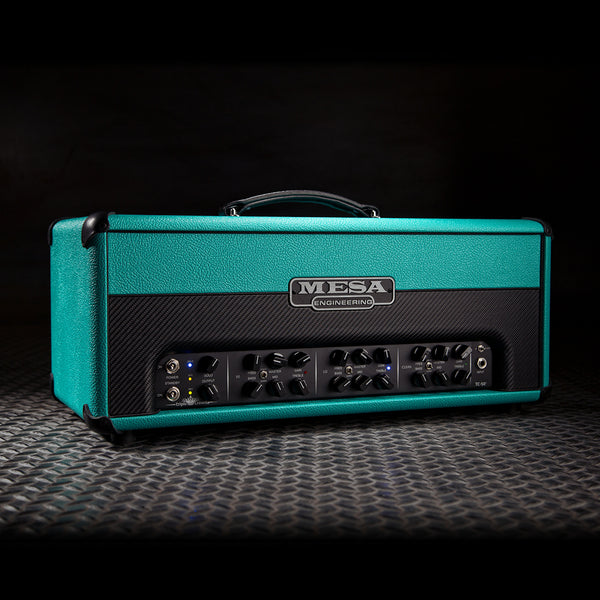 MESA/Boogie Triple Crown TC-50 Head - Custom Teal Bronco with Teal Bronco /Black Carbon Front Panel