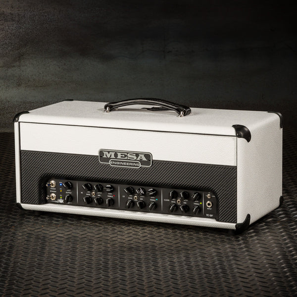 MESA/Boogie Triple Crown TC-50 Head - Custom Hot White Bronco with Hot White Bronco/Black Carbon Front Panel