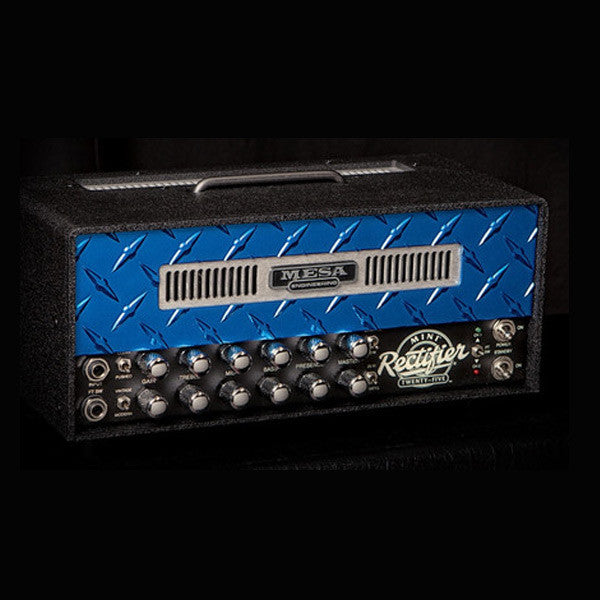Mesa/Boogie Mini Rectifier 25 Head - Custom Blue Diamond Plate