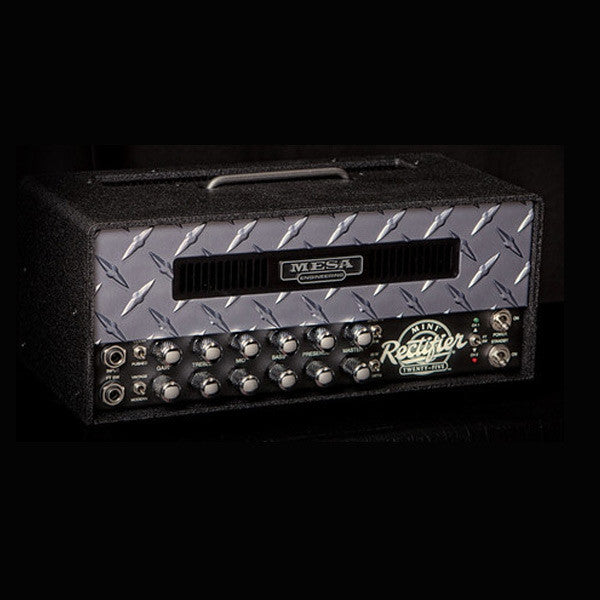 Mesa/Boogie Mini Rectifier 25 Head -  Custom Pewter Diamond Plate