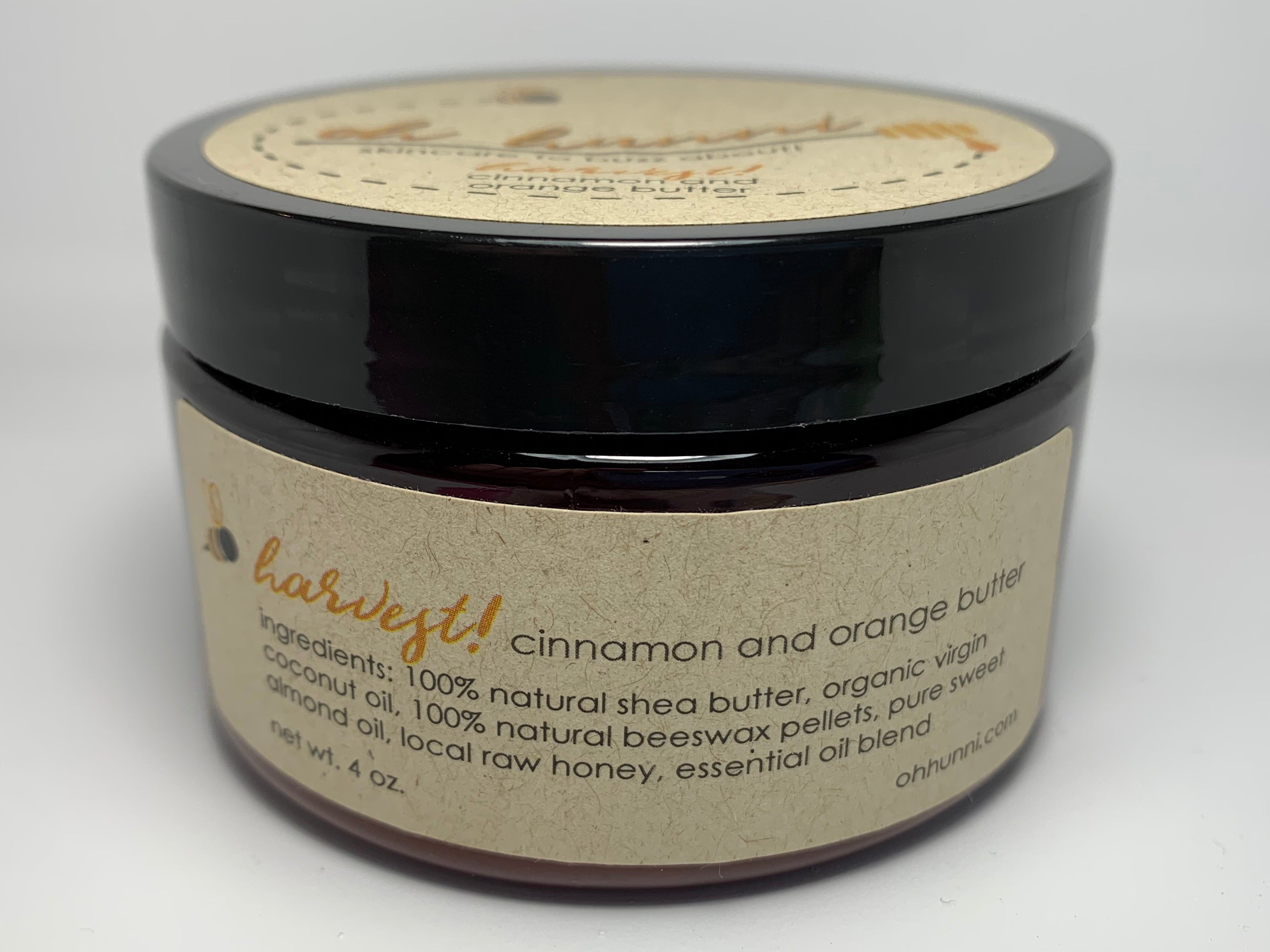 All Natural & Organic Body Butter made with Cinnamon & Orange