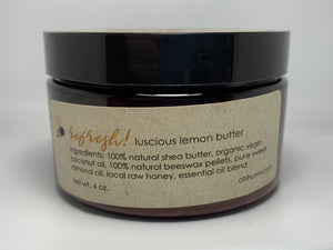 Refresh Lemon Body Butter made with Organic and All Natural Ingredients