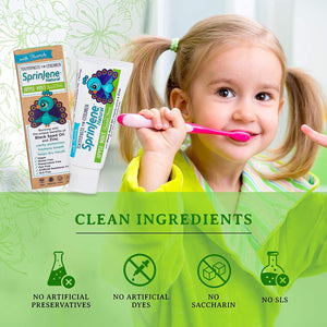 Natural toothpaste for children made with clean ingredients