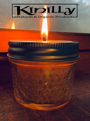 Pure Beeswax Candle in a Glass Jar