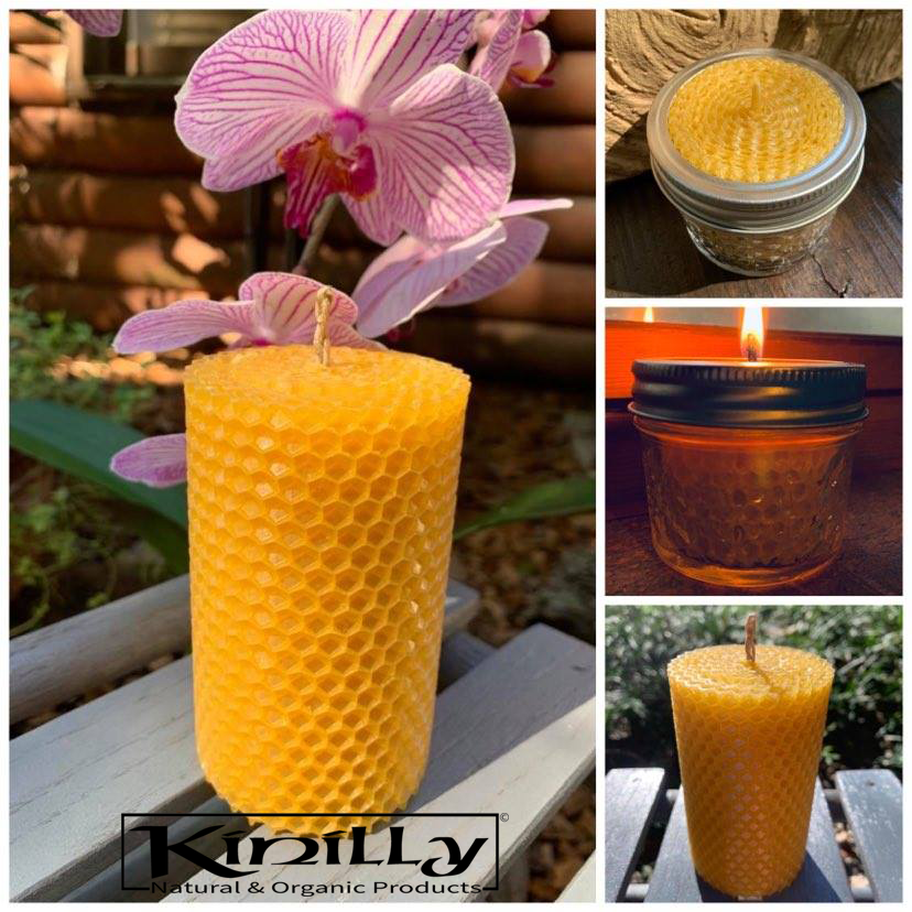 All Natural Pure Beeswax Candles by Kinilly