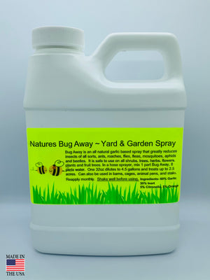 Natures Buy Away Spray for lawns, yards and gardens