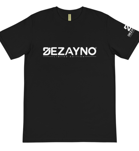 Black Organic T-shirts by Dezayno