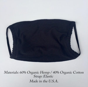 Organic Masks, Hemp & Cotton Masks in Black