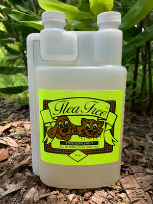 Flea Free all natural insect control for pets Self Measuring Bottle