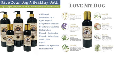 natural pet shampoo made with organic ingredients