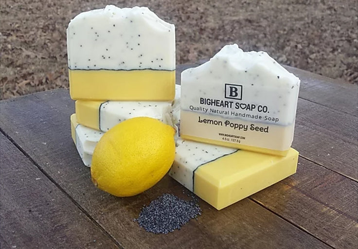 All Natural Lemon Poppy Seed Soap