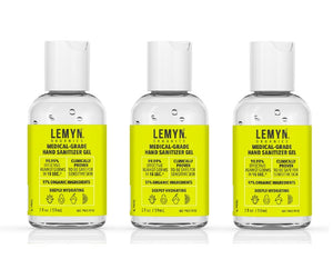 3 Pack of the 2oz size Lemyn™ Organics Hand Sanitizer
