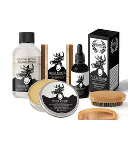 All Natural Men's Grooming Kit for Hair Face & Body